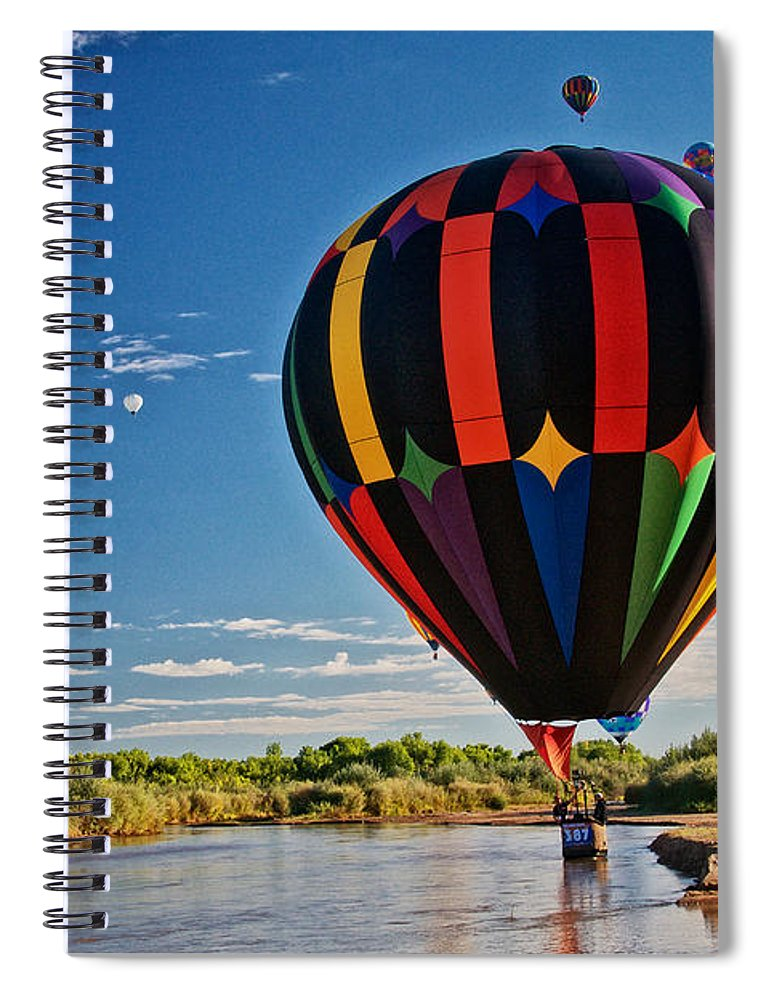 Nature Spiral Notebook featuring the photograph Rio Grande Splash Down, New Mexico by Zayne Diamond Photographic