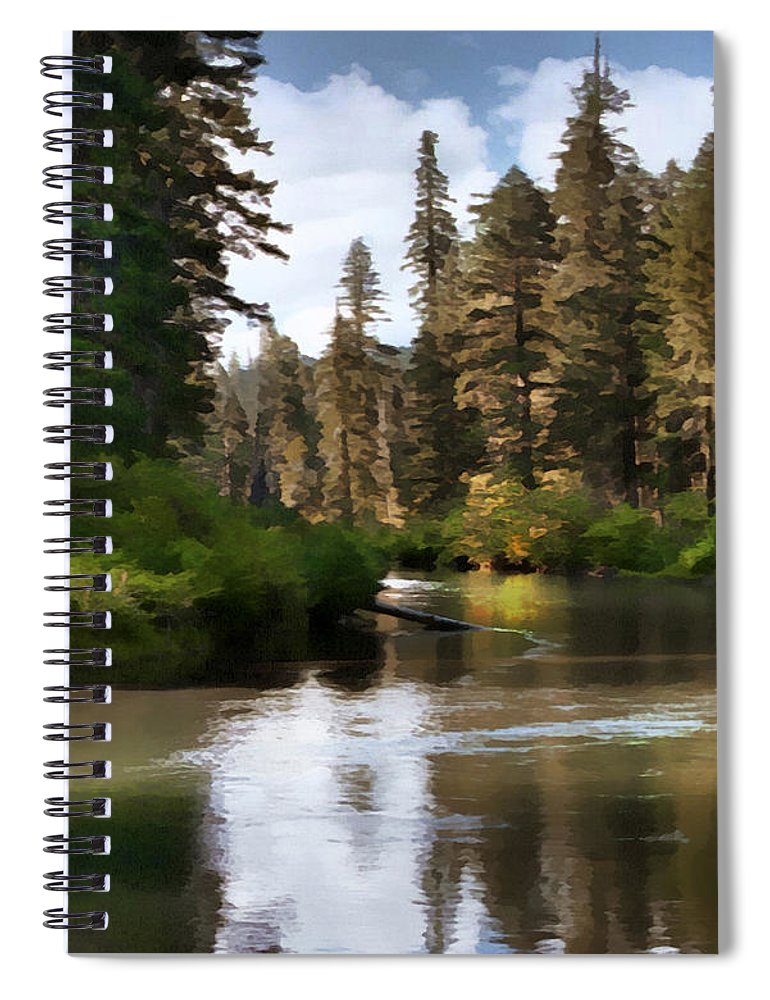 Millers Creek Spiral Notebook featuring the painting Millers Creek Painterly by Peter Piatt