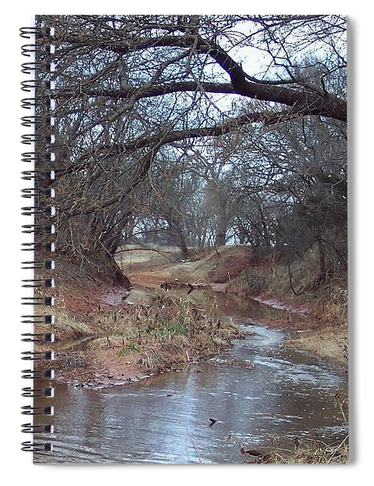 Landscapes Spiral Notebook featuring the photograph Rivers Bend by Shari Chavira