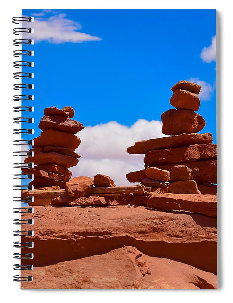 Rock Cairns In The Desert Spiral Notebook For Sale By Dany Lison