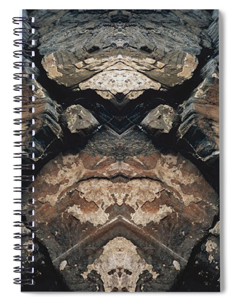 Rocks Spiral Notebook featuring the photograph Rock Gods Rock Matron by Nancy Griswold