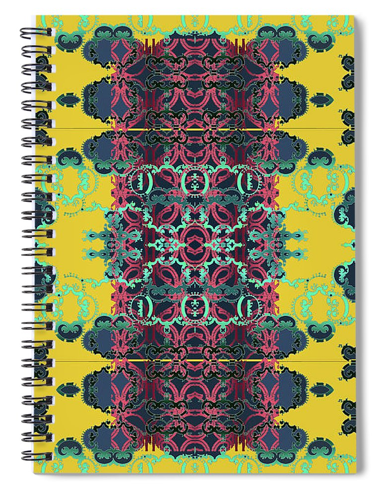 Yellow Spiral Notebook featuring the digital art Rocket 1 by Ceil Diskin