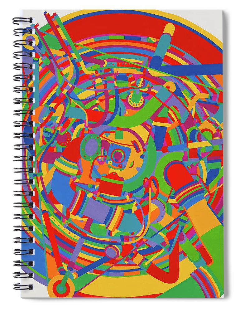 Rocket Spiral Notebook featuring the painting Rocket by Janet Hansen