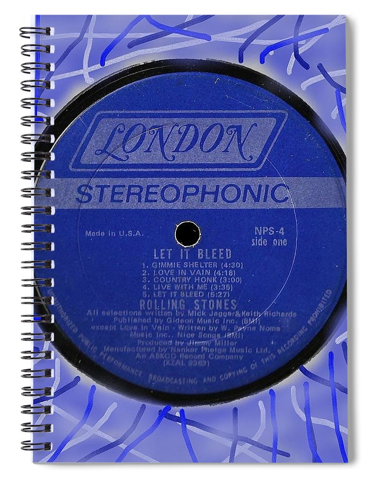 Rolling Stones Spiral Notebook featuring the digital art Rolling Stones Let It Bleed Lp Label by Doug Siegel