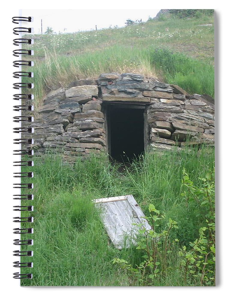 Photograph Cellar Old Green Newfoundland Spiral Notebook featuring the photograph Root Cellar by Seon-Jeong Kim