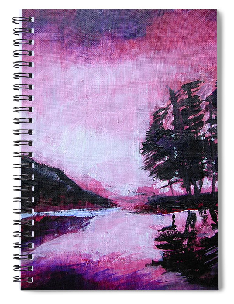 Ruby Dawn Spiral Notebook featuring the painting Ruby Dawn by Seth Weaver