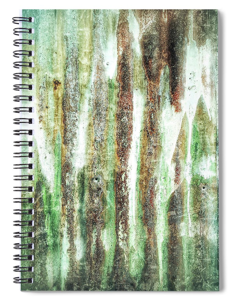Abstract Spiral Notebook featuring the photograph Rusty Metal Background by Tom Gowanlock