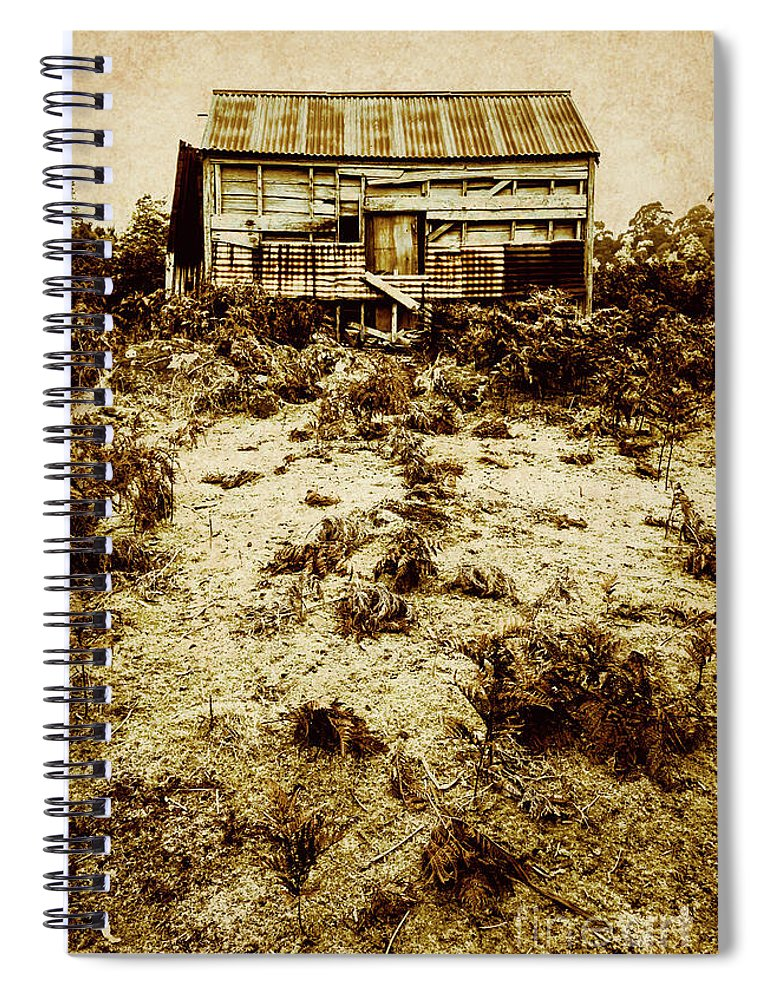 Cabin Spiral Notebook featuring the photograph Rusty Rural Ramshackle by Jorgo Photography - Wall Art Gallery