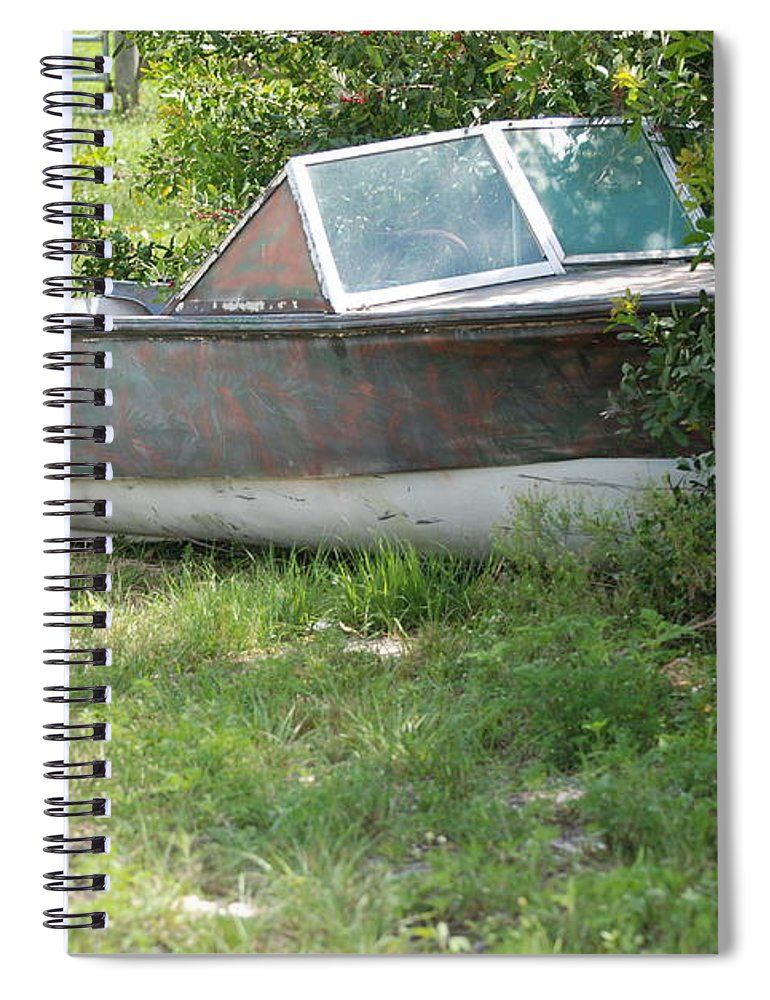 Boat Spiral Notebook featuring the photograph S S Minnow by Rob Hans