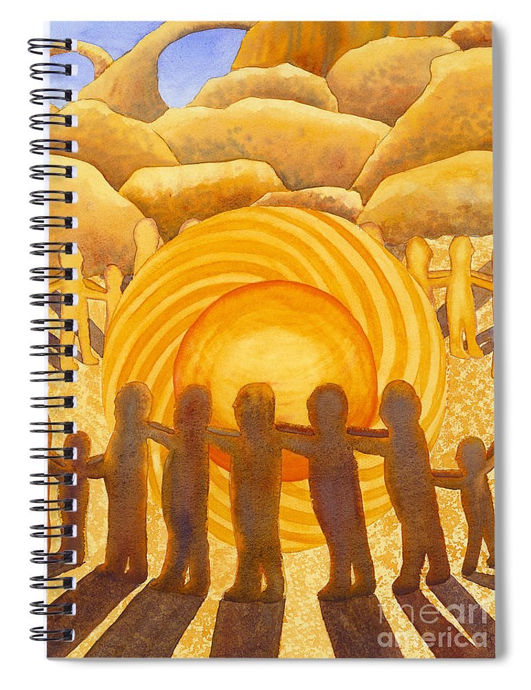 Chakra Spiral Notebook featuring the painting Sacral Chakra by Catherine G McElroy
