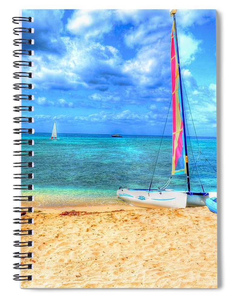 Ocean Spiral Notebook featuring the photograph Sailaway by Debbi Granruth