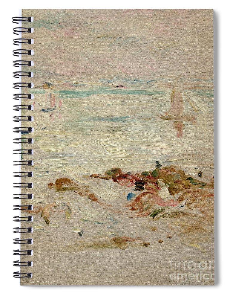 Sailboats Spiral Notebook featuring the painting Sailboats by Berthe Morisot