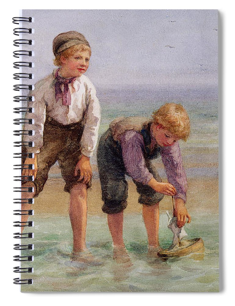 Sailing Spiral Notebook featuring the painting Sailing Boats by Edith Hume
