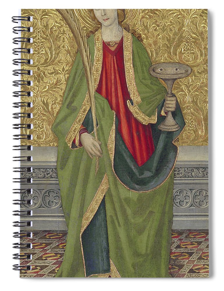 Saint Lucy Spiral Notebook featuring the painting Saint Lucy by Jaume the younger Vergos