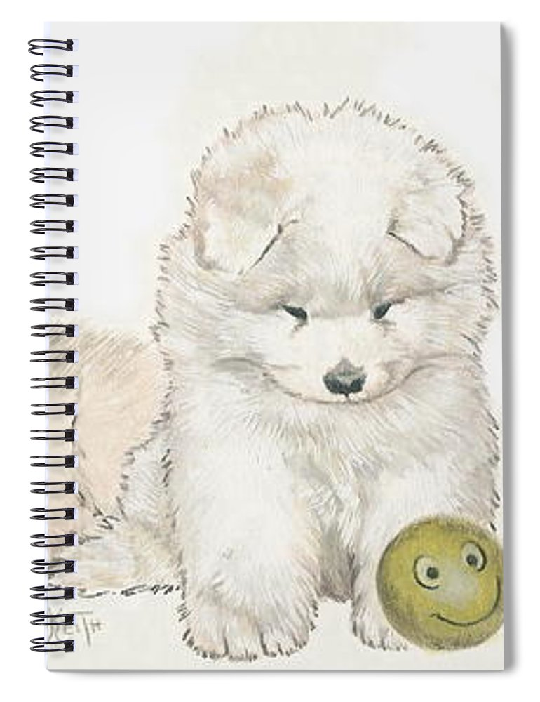 Samoyed Puppies Spiral Notebook For Sale By Barbara Keith
