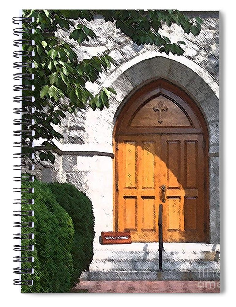 Church Spiral Notebook featuring the photograph Sanctuary by Debbi Granruth