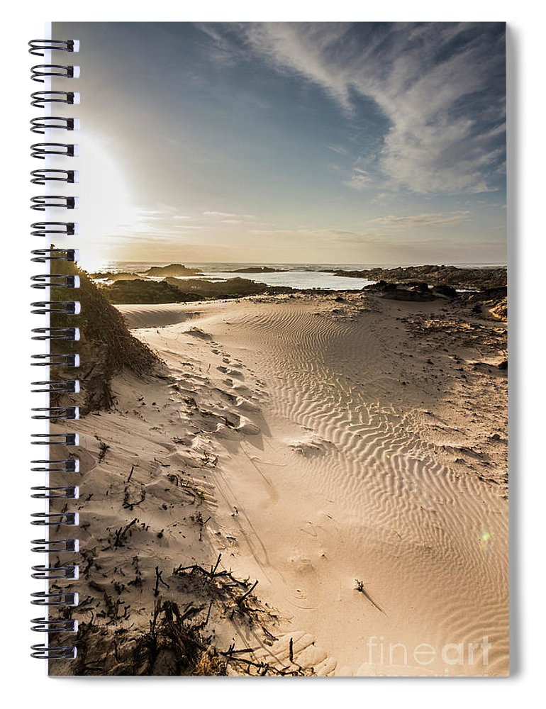Bay Spiral Notebook featuring the photograph Sandy Beach Haven by Jorgo Photography - Wall Art Gallery