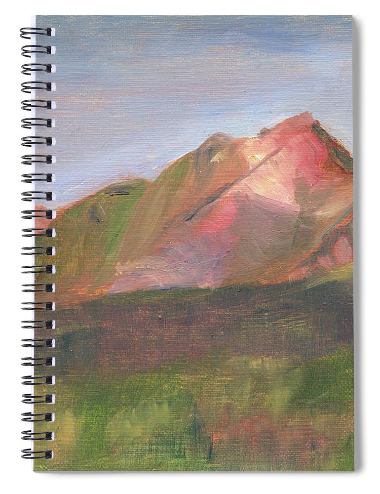Colorado Spiral Notebook featuring the painting Sangres I by Lilibeth Andre