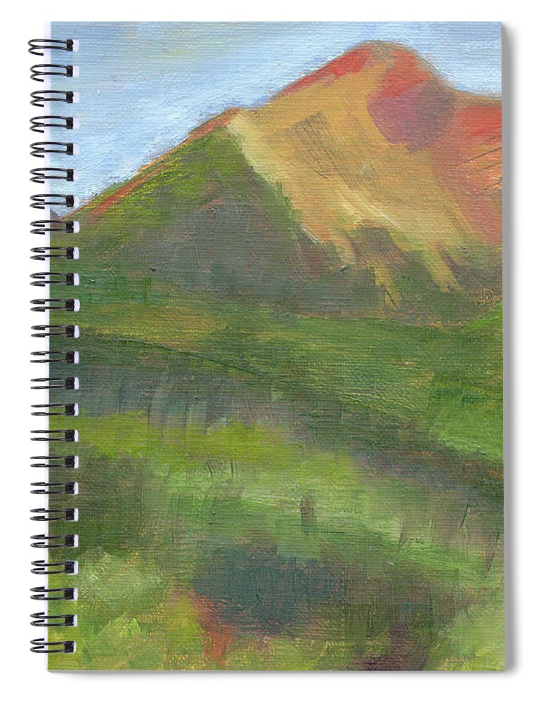 Colorado Spiral Notebook featuring the painting Sangres II by Lilibeth Andre