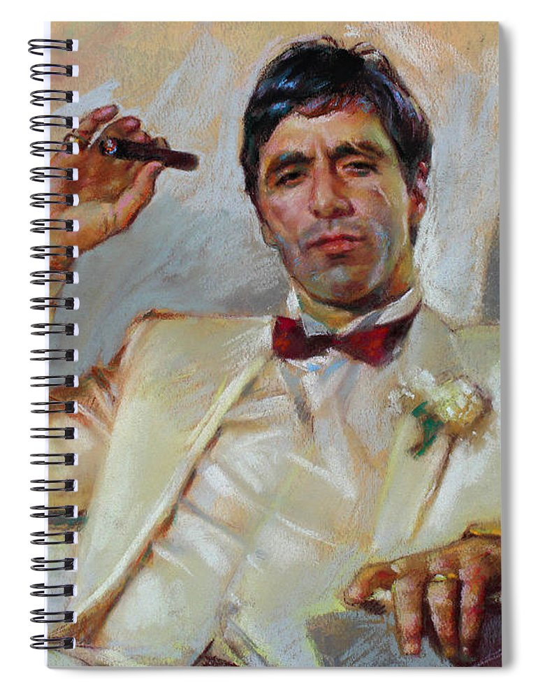 Scarface Spiral Notebook featuring the pastel Scarface by Ylli Haruni