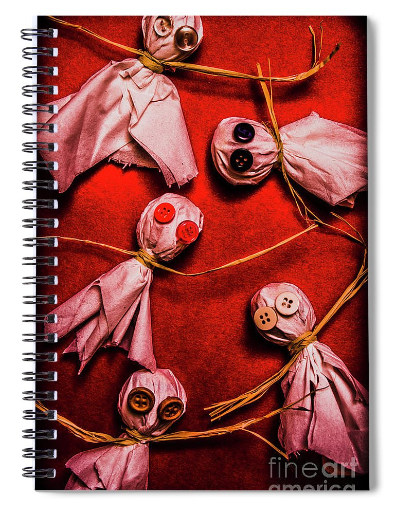 Ghost Spiral Notebook featuring the photograph Scary Halloween Lollipop Ghosts by Jorgo Photography - Wall Art Gallery