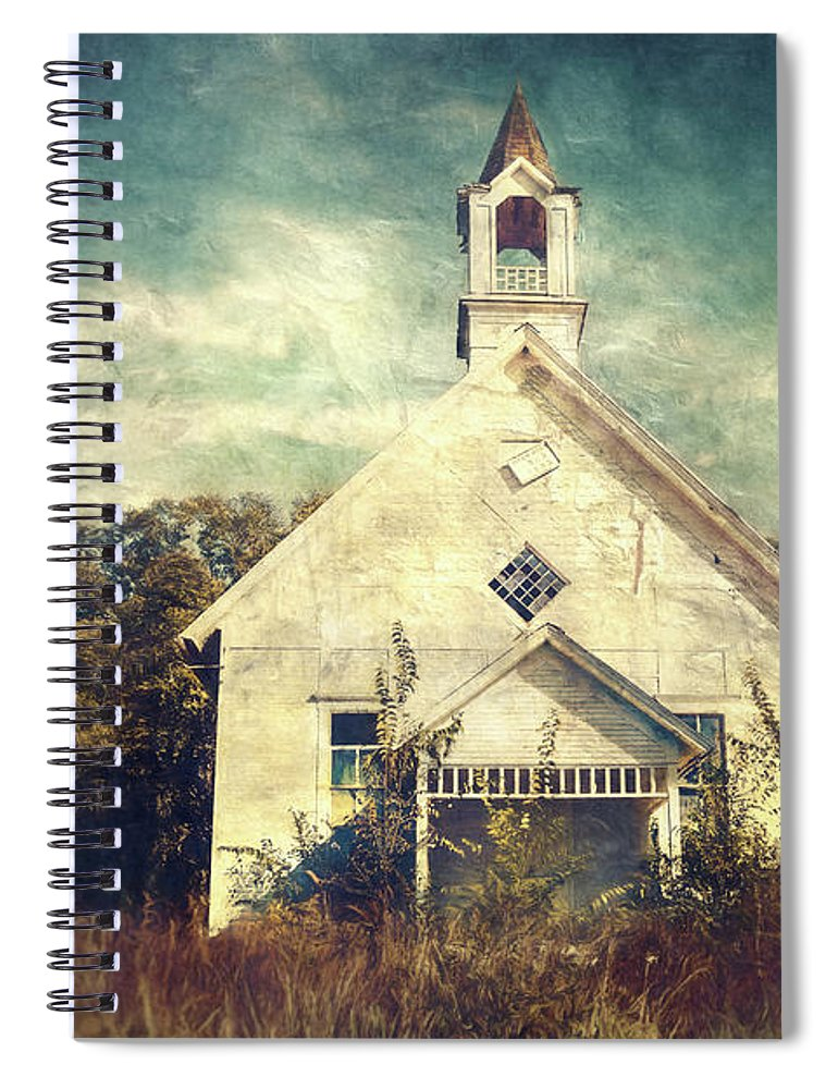 Abandoned Spiral Notebook featuring the photograph Schoolhouse 1895 by Scott Norris