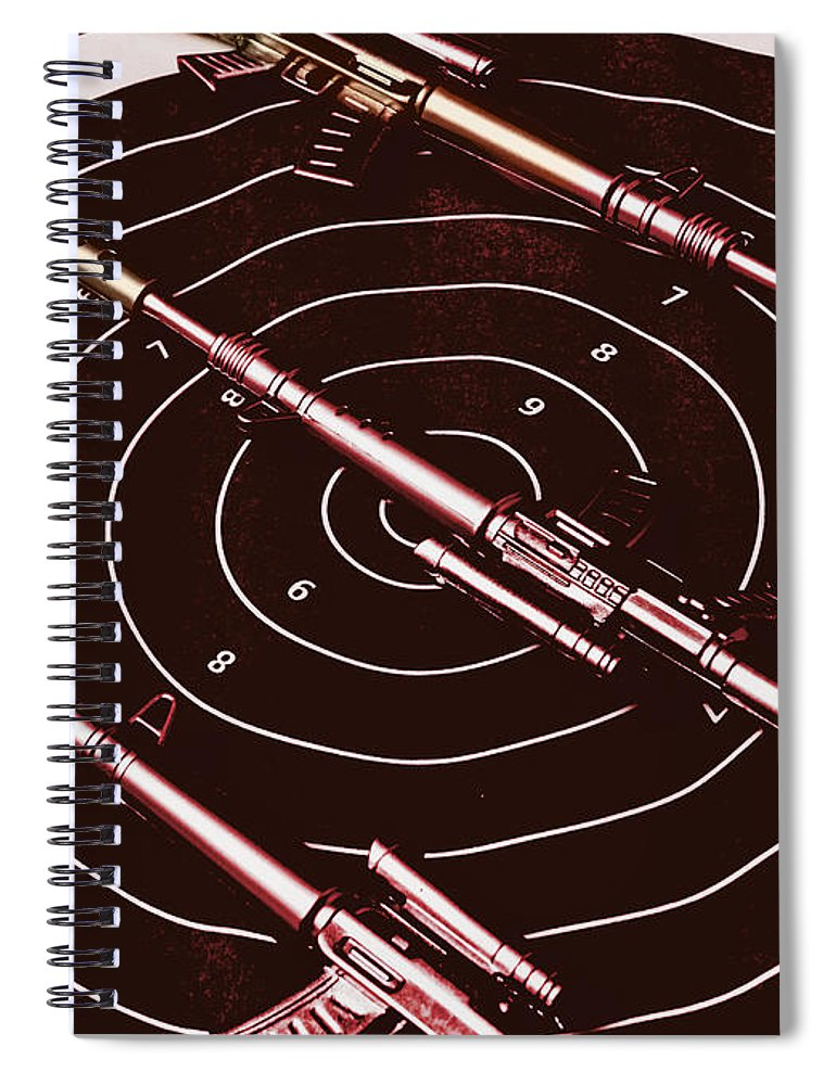 Sniper Spiral Notebook featuring the photograph Scopes Of Military Precision by Jorgo Photography - Wall Art Gallery