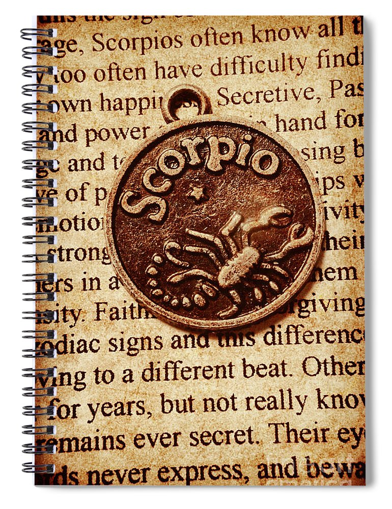 Old Spiral Notebook featuring the photograph Scorpio Parchment by Jorgo Photography - Wall Art Gallery