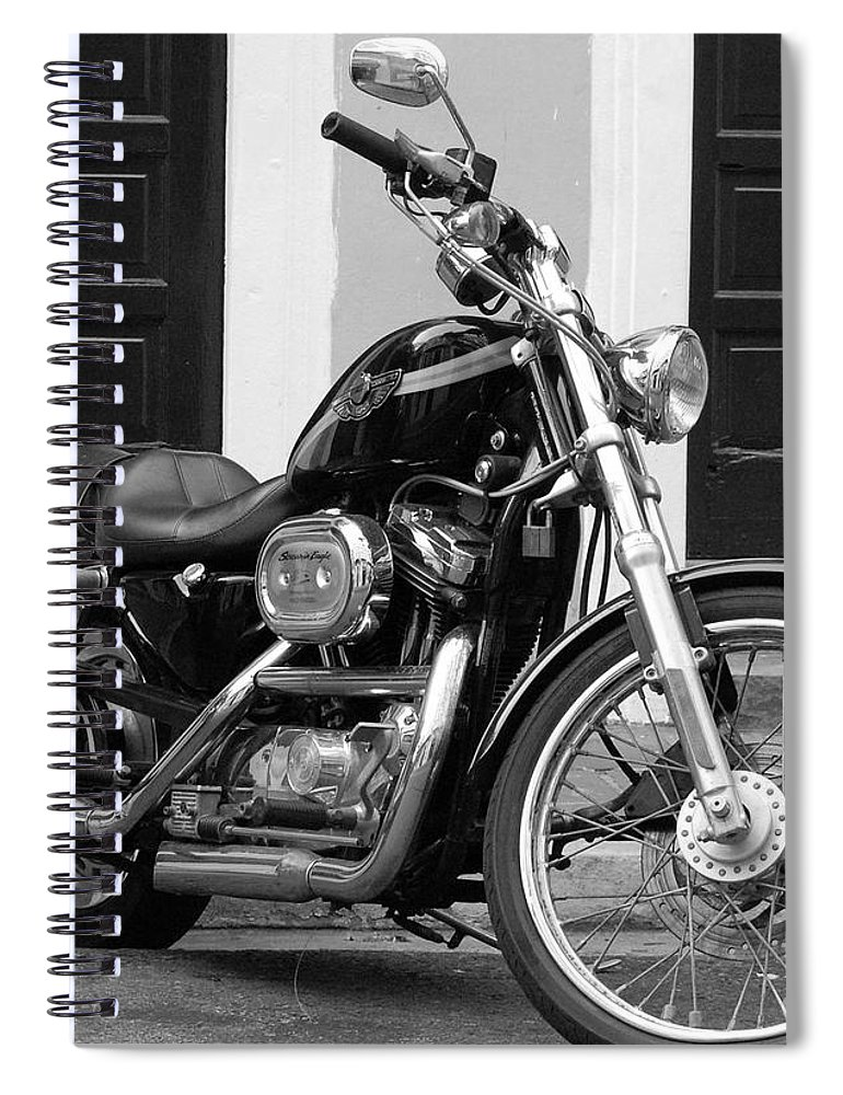 Motorcycle Spiral Notebook featuring the photograph Screamin Eagle by Debbi Granruth