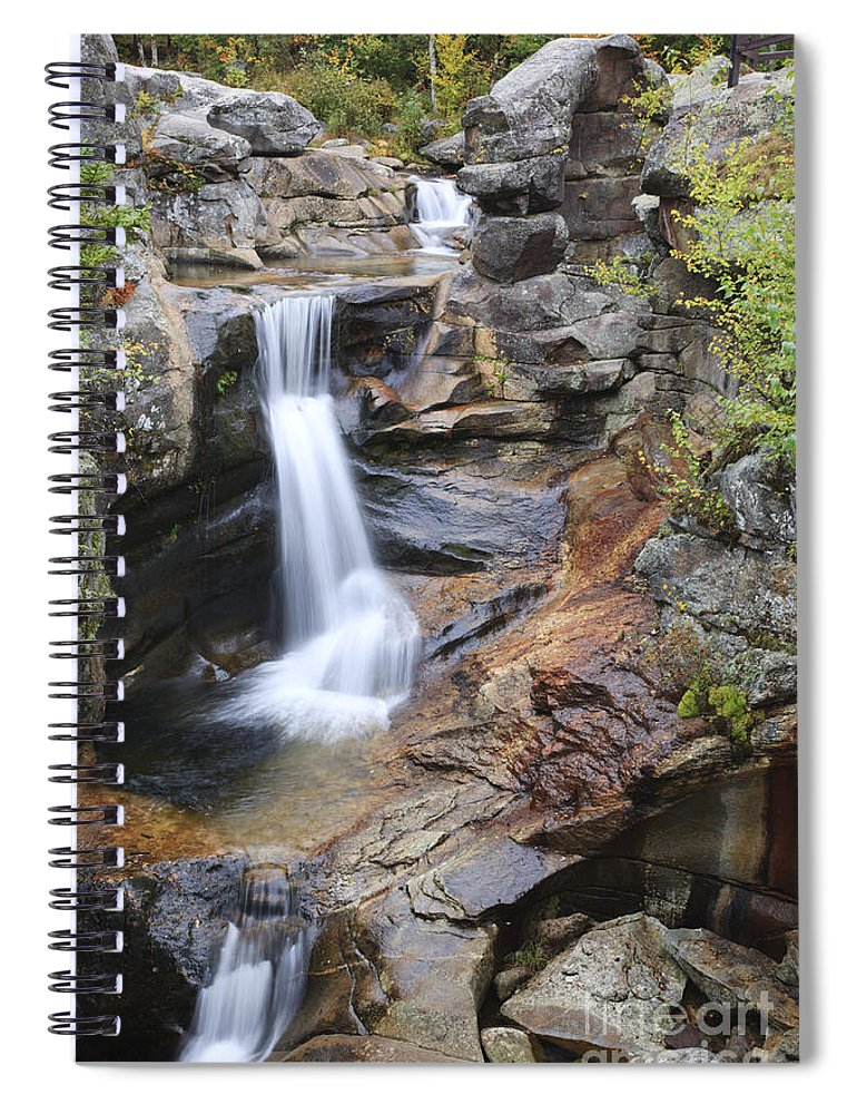 Nature Spiral Notebook featuring the photograph Screw Auger Falls - Maine by Erin Paul Donovan
