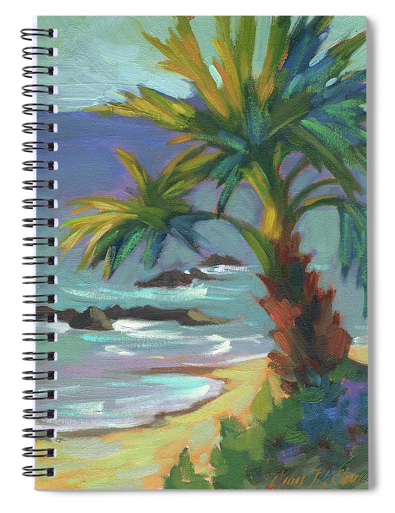 Sea Breeze Spiral Notebook featuring the painting Sea Breeze by Diane McClary
