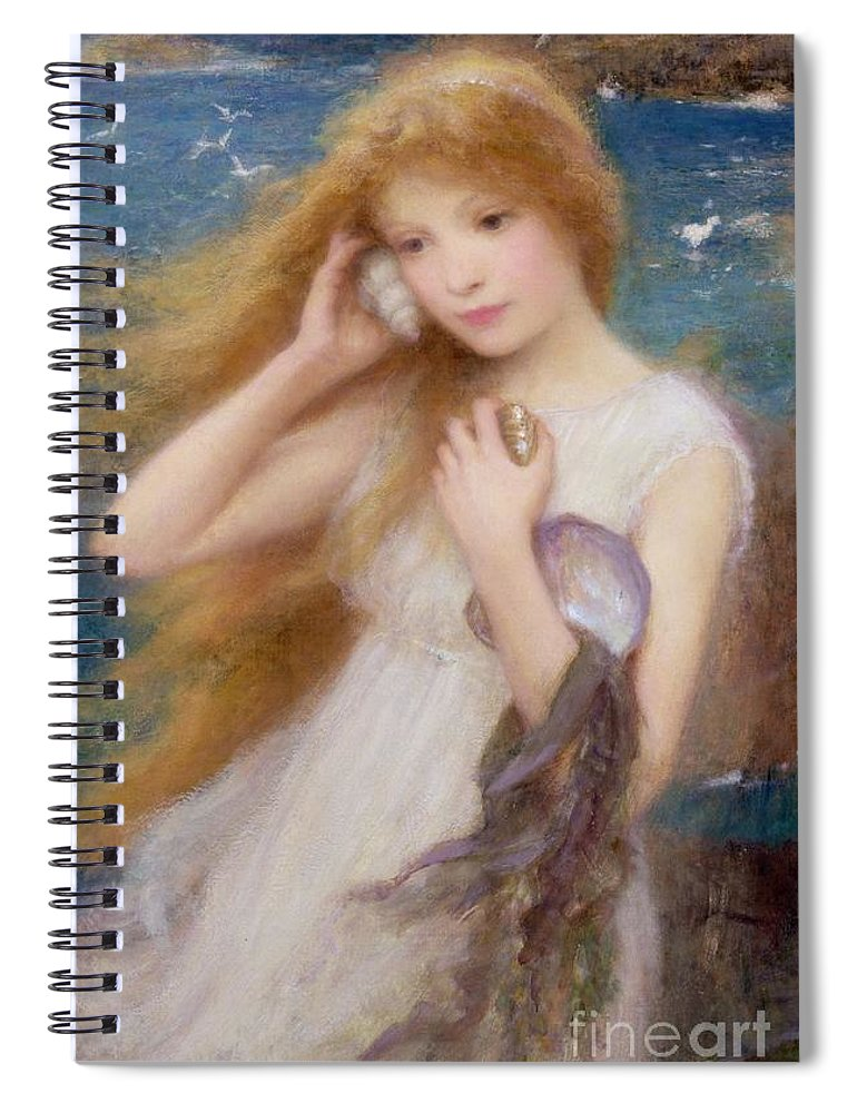 Sea Nymph Spiral Notebook featuring the painting Sea Nymph by William Robert Symonds