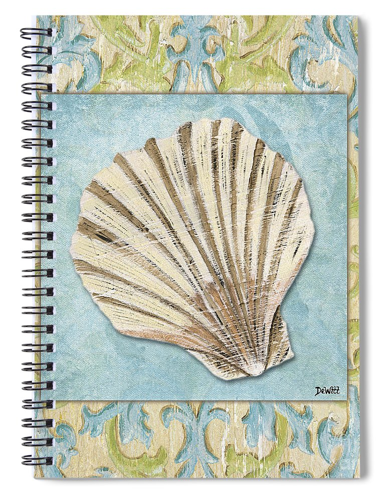 Bath Spiral Notebook featuring the painting Sea Spa Bath 1 by Debbie DeWitt