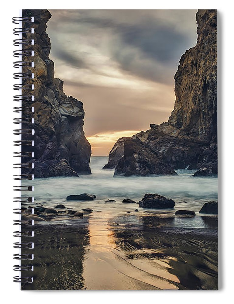 Big Sur Spiral Notebook featuring the photograph Seaside Reflections by Kace Rodriquez