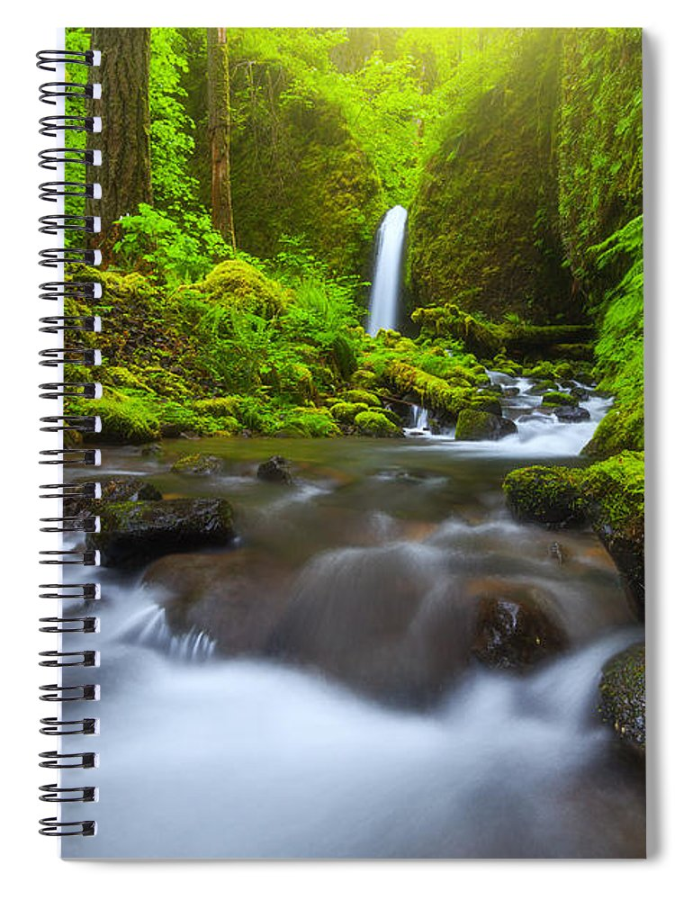Oregon Spiral Notebook featuring the photograph Seclusion by Darren White