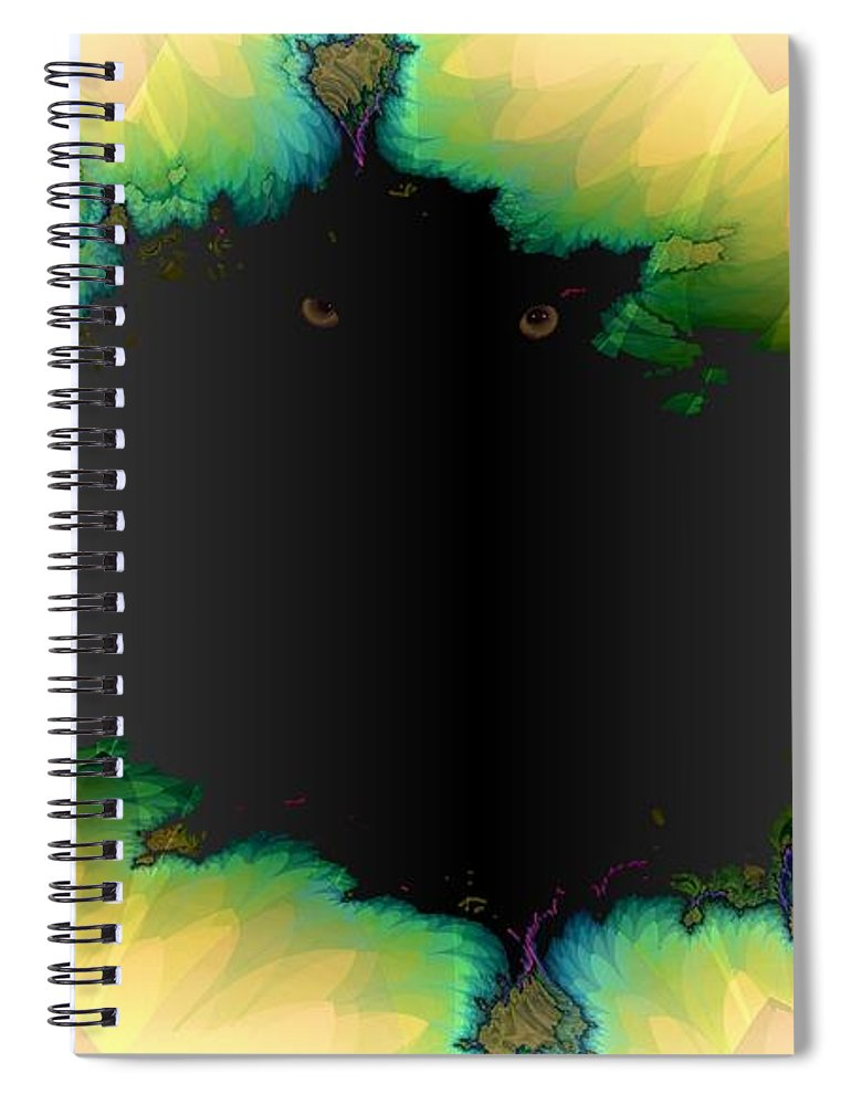 Eyes Spiral Notebook featuring the digital art See You by Ron Bissett