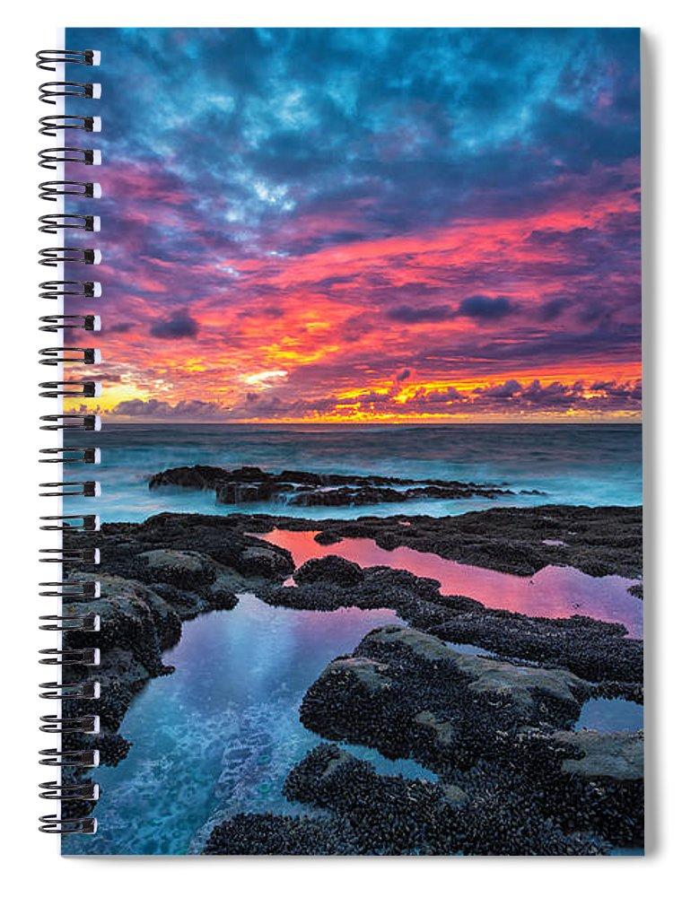 Sunset Spiral Notebook featuring the photograph Serene Sunset by Robert Bynum