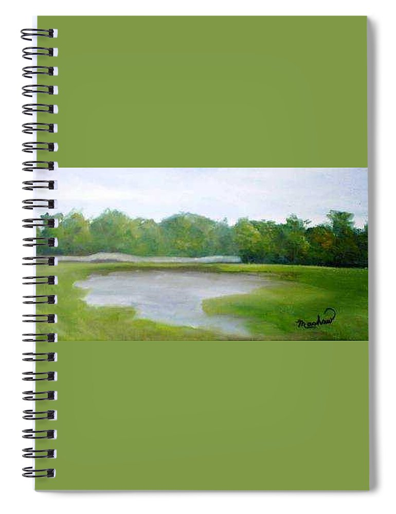 Landscape Spiral Notebook featuring the painting Serene Vista by Sheila Mashaw