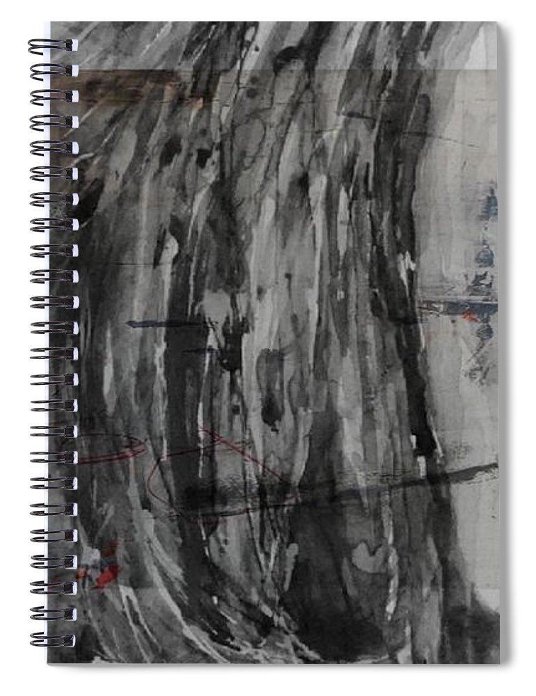 Adele Spiral Notebook featuring the mixed media Set Fire To The Rain by Paul Lovering