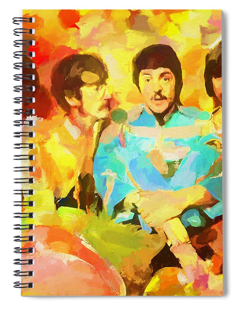 Sgt. Peppers Lonely Hearts Spiral Notebook featuring the painting Sgt. Peppers Lonely Hearts by Dan Sproul