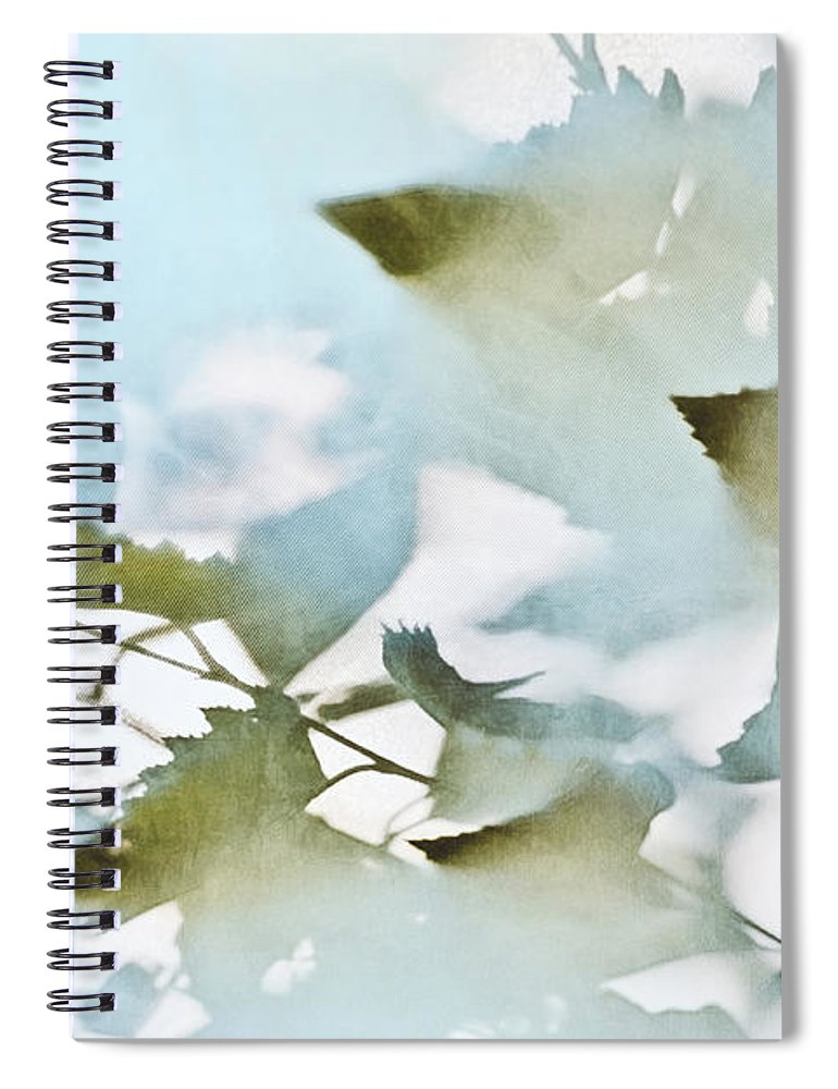 Leaves Spiral Notebook featuring the photograph Shadow Leaves by Scott Norris