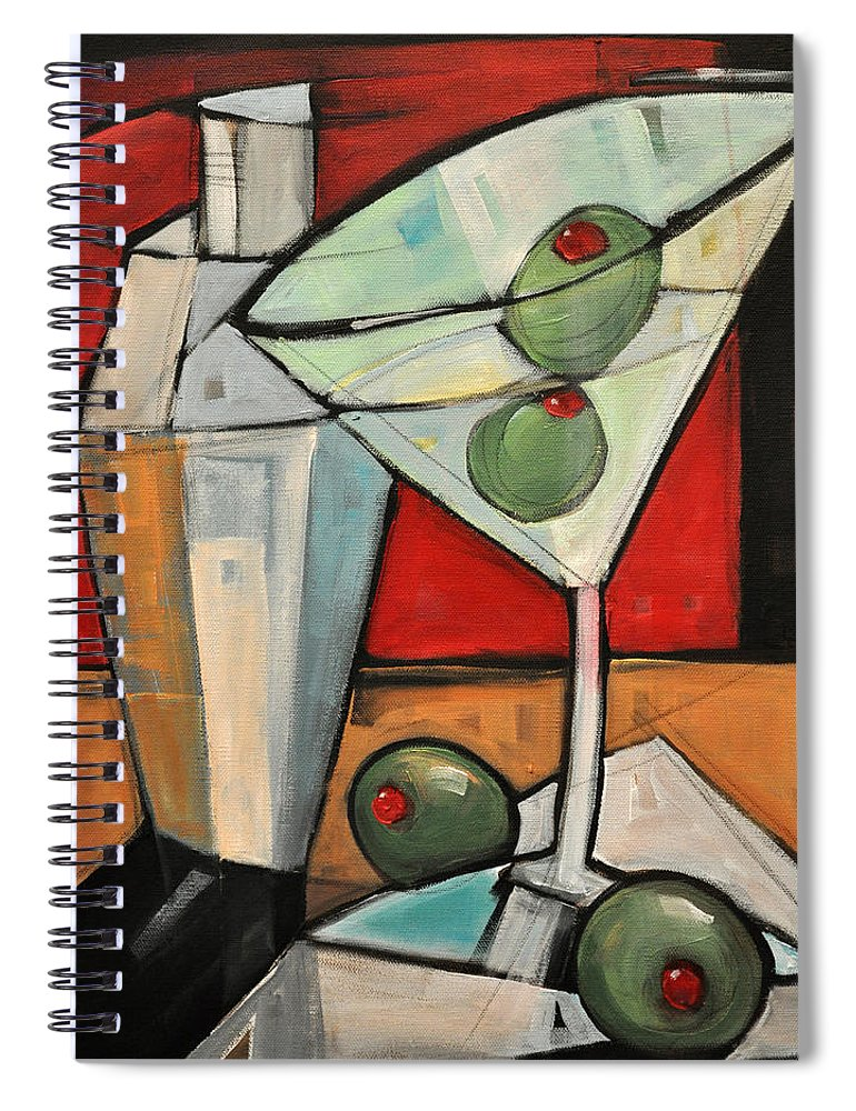 Martini Spiral Notebook featuring the painting Shaken Not Stirred by Tim Nyberg