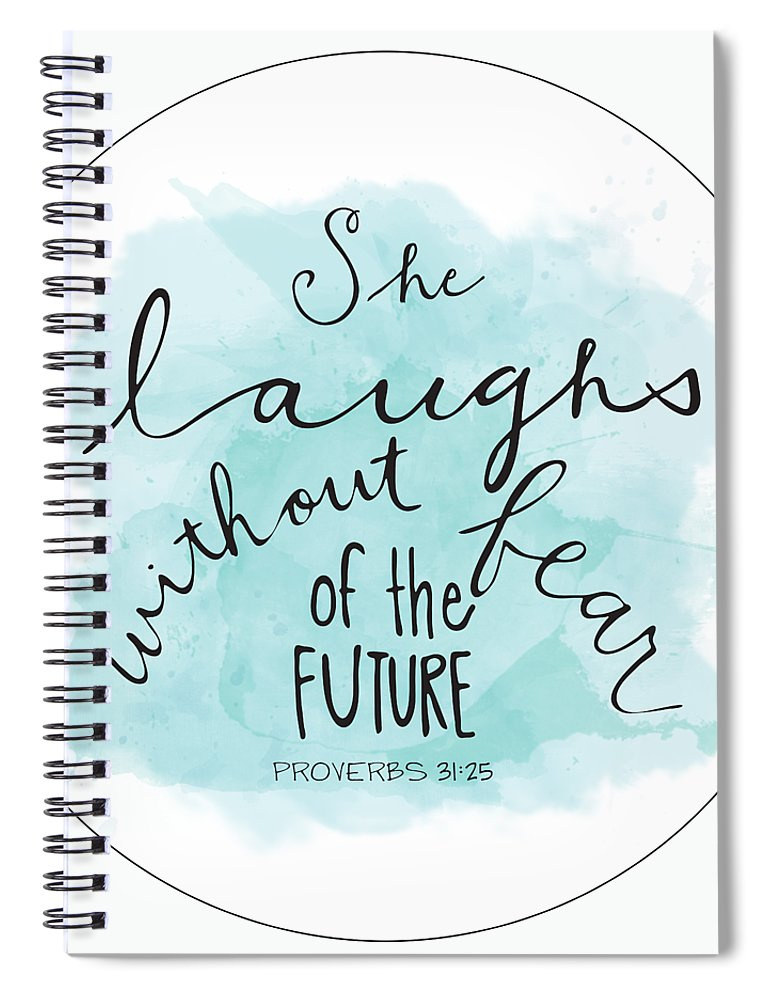 Faith Based Art Spiral Notebook featuring the painting She Laughs by Nancy Ingersoll