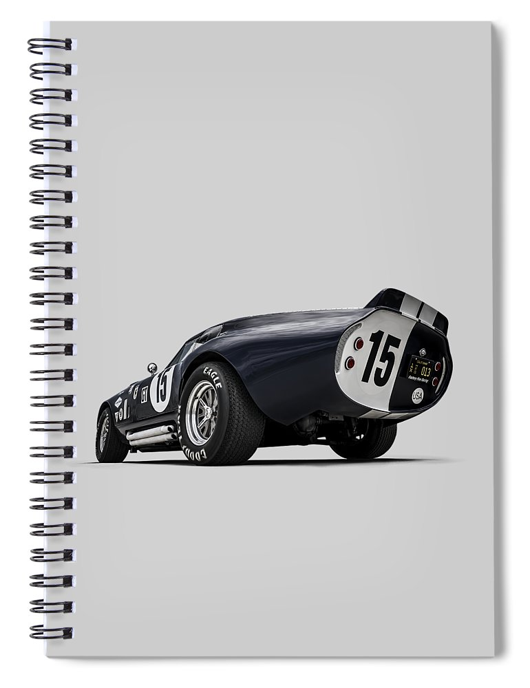 Shelby Spiral Notebook featuring the digital art Shelby Daytona by Douglas Pittman
