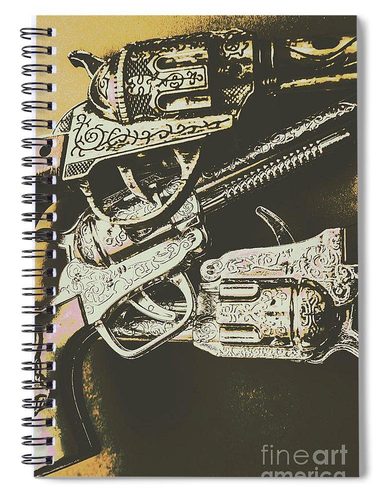 Sheriffs Spiral Notebook featuring the photograph Sheriff Guns by Jorgo Photography - Wall Art Gallery