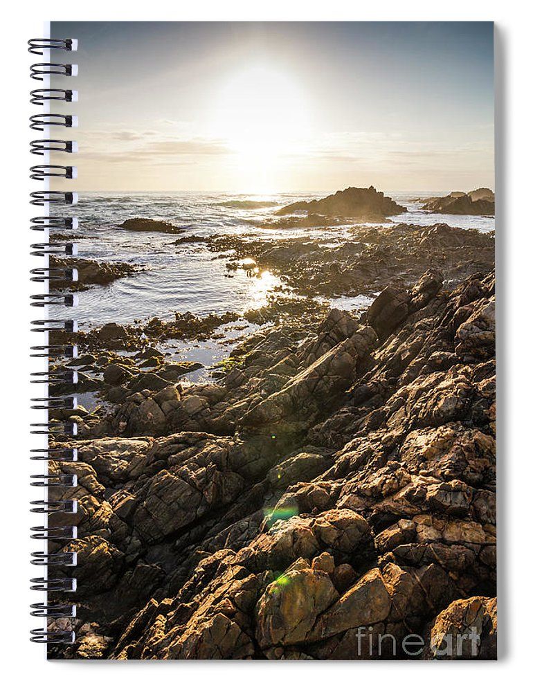 Water Spiral Notebook featuring the photograph Shore Rays by Jorgo Photography - Wall Art Gallery