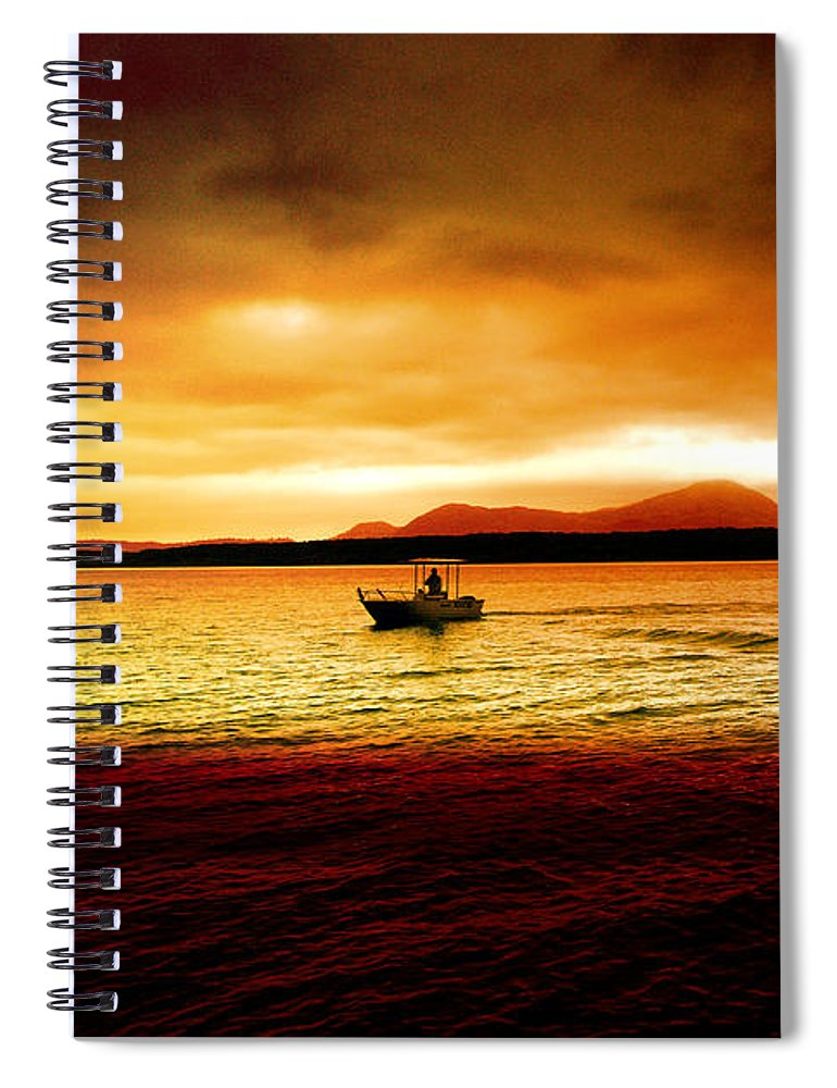 Landscape Spiral Notebook featuring the photograph Shores Of The Soul by Holly Kempe