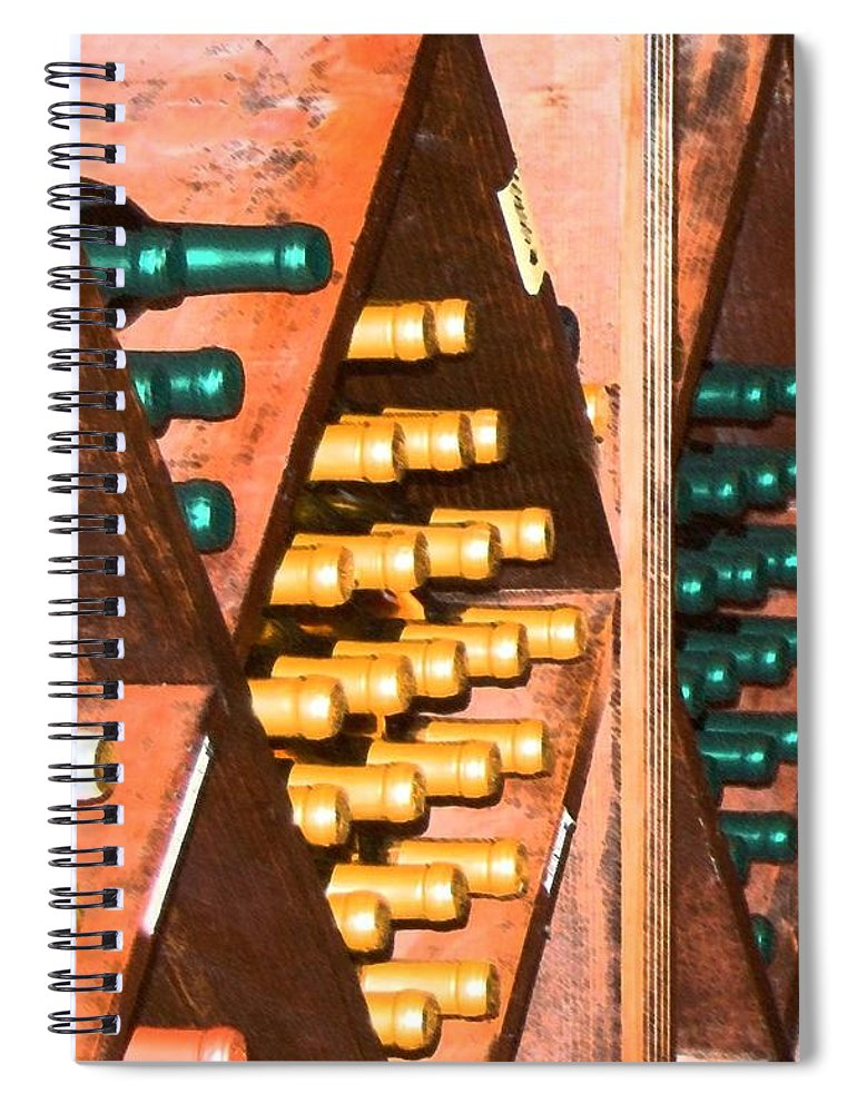 Wine Spiral Notebook featuring the photograph Sideways by Debbi Granruth