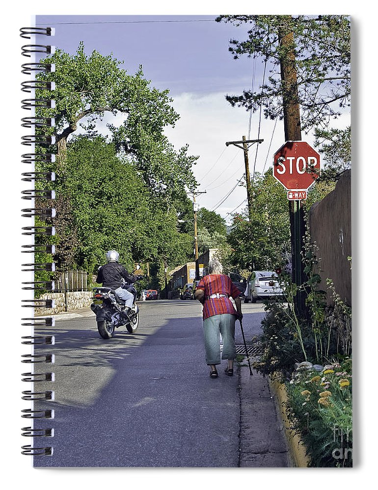 People Spiral Notebook featuring the photograph Signs by Madeline Ellis