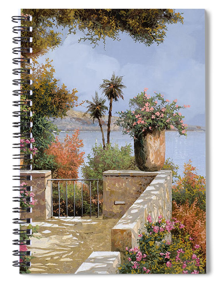 Seascape Spiral Notebook featuring the painting Il Silenzio by Guido Borelli